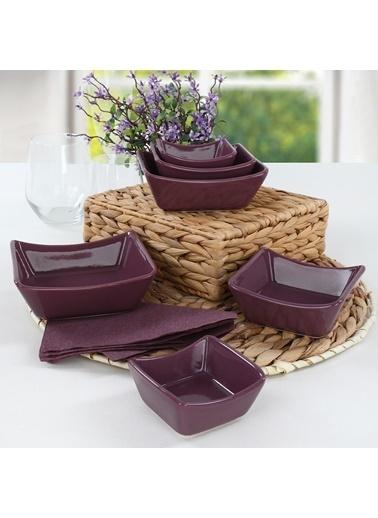 Keramika Keramika 6 Adet Sandal Çerezlik Sosluk Renkli